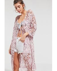 Urban Outfitters - Floral Crochet Cover-up - Lyst
