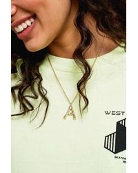 Urban Outfitters - Initial Pendant Gold Statement Necklace - Womens All - Lyst