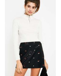 Urban Outfitters - Uo Shimmer Rose Embroidered Mini Skirt - Lyst