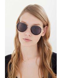 bc6d6bc2e4 Lyst - Urban Outfitters Shiloh Shield Sunglasses in Black