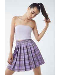 Lazy Oaf - Plaid Pleated Skirt - Lyst