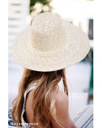 Urban Outfitters - High Crown Straw Panama Hat - Lyst