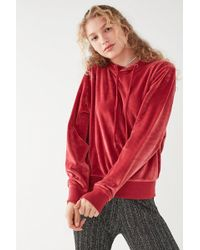Urban Outfitters | Uo Easy Does It Velour Hoodie Sweatshirt | Lyst