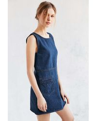 Objects Without Meaning - For Uo Denim Mini Dress - Lyst