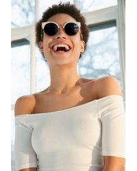 Goldendaze - Round Cat-eye Sunglasses - Lyst