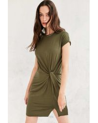 Silence + Noise - Side Knot T-shirt Dress - Lyst