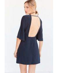 Silence + Noise - Open-back Bell-sleeve Mini Dress - Lyst