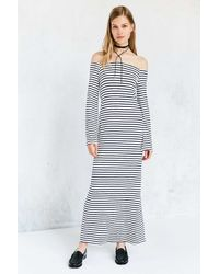 Kimchi Blue - Stripe Off-the-shoulder Bell-sleeve Maxi Dress - Lyst