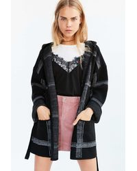 Obey - Flynt Plaid Wrap Sweater Coat - Lyst