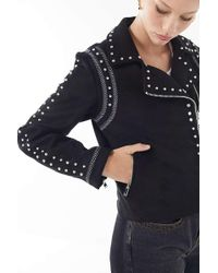 Urban Outfitters - Uo Studded Moto Jacket - Lyst