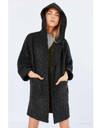 BDG - Alessi Boucle Relaxed Hooded Coat - Lyst