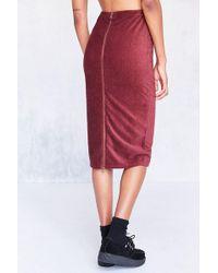 Cooperative - Cordacious Zip Bodycon Midi Skirt - Lyst