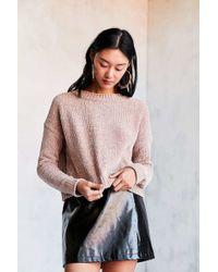 Silence + Noise - Velvet Chenille Pullover Sweater - Lyst