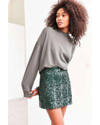 Cooperative - Cassie Sequin Mini Skirt - Lyst