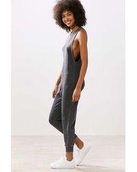 Kensie - Zip-front Sweatshirt Jumpsuit - Lyst