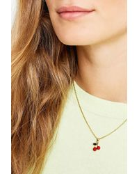 Urban Outfitters - Cherry Pendant Necklace - Womens All - Lyst
