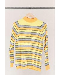 Urban Renewal - Vintage Striped Mock Neck Sweater - Lyst