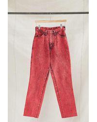 Urban Renewal - Vintage Wrangler Red Acid Wash Jean - Lyst