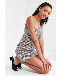 Cooperative - Straight Neck Gingham Dress - Lyst