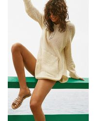 BDG - Oversized Waffle Knit Hoodie Sweater - Lyst