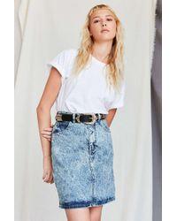 Urban Renewal - Vintage Guess Light Acid Wash Denim Skirt - Lyst