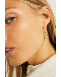 Urban Outfitters - Sovereign Coin Drop Hoop Earrings - Lyst