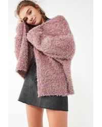 Pins And Needles - Fluffy Oversized Cardigan - Lyst