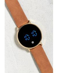 Urban Outfitters - Uo Distressed Leather Led Watch - Lyst