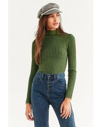 Silence + Noise - Macy Ribbed Knit Turtleneck Sweater - Lyst