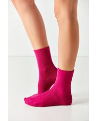 Out From Under - Cozy Flat Knit Crew Sock - Lyst