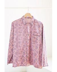 Urban Renewal - Vintage Pink Paisley Silky Pajama Top - Lyst