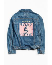 BDG - Embellished Denim Trucker Jacket - Lyst