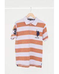 Urban Renewal | Vintage Polo Association Lavender + Gold Stripe Polo Shirt | Lyst
