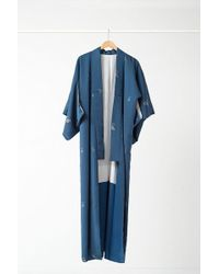 Urban Renewal - Vintage Teal Metallic Floral Kimono - Lyst