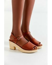 Urban Outfitters - Krista Wooden Heel Sandal - Lyst
