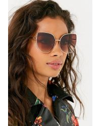 Urban Outfitters - Lux Oversized Cat-eye Sunglasses - Lyst
