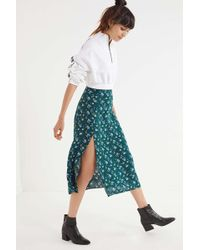 Urban Outfitters - Uo Bree Cherry Midi Skirt - Lyst