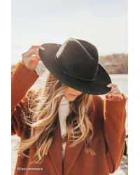 Urban Outfitters Uo Maddie Woven Panama Hat - Black
