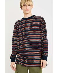 Urban Outfitters - Uo Stay True Navy Long-sleeve T-shirt - Lyst