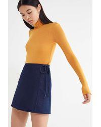 Urban Renewal - Remnants Denim Wrap Mini Skirt - Lyst