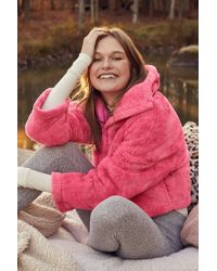 Urban Outfitters - Uo Judy Fuzzy Half-zip Jacket - Lyst