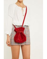 Urban Outfitters - Uo Suede Shoulder Drawstring Bucket Bag - Lyst