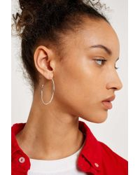 Urban Outers Sterling Silver Large Open Hoop Earrings Womens All Lyst