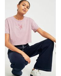 BDG - Embroidered Believer Cropped T-shirt - Lyst