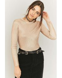 Sparkle & Fade - Metallic Ribbed Knit Jumper - Lyst