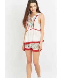 Somedays Lovin - Leonie Embroidered Floral Shorts - Lyst
