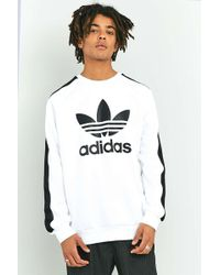 adidas Originals - Berlin White Taped Crewneck Sweatshirt - Lyst