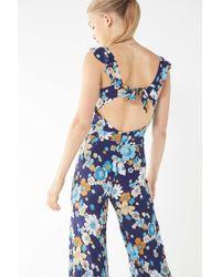 For Love & Lemons - '70s Midnight Blossom Jumpsuit - Lyst