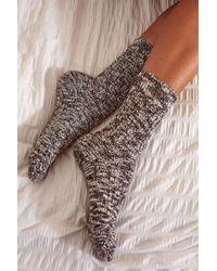 Out From Under - Essential Black & Grey Slub Socks - Womens S/m - Lyst
