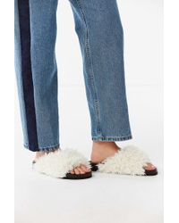 Urban Outfitters - Uo Faux Shearling Pool Slide - Lyst